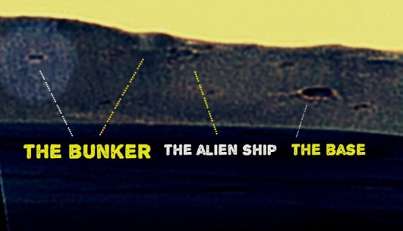 Is this a bunker and alien base on Mars?