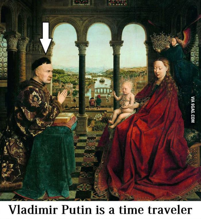 Putin the time travelling monk