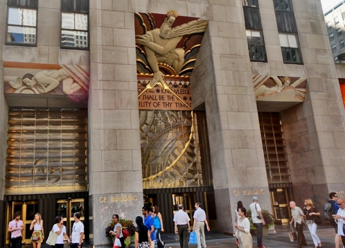 Fig. 1 The three door main entrance of the Rockefeller Center