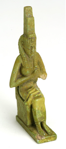 Fig.13 Ancient Egyptian statue of the throned Isis Lactanas
