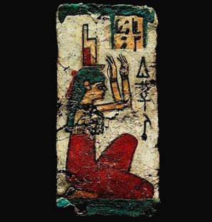 Fig. 18 Ancient Egyptian painting of the kneeling Isis in profile