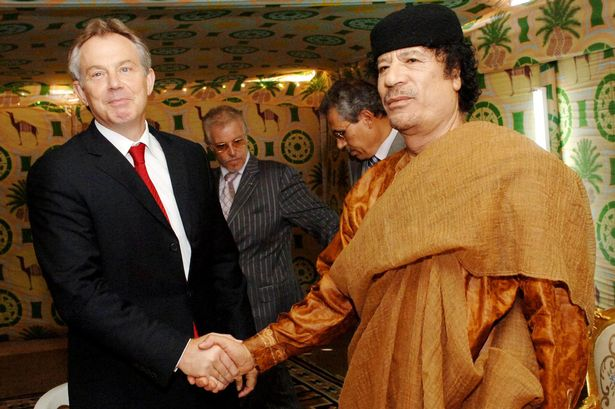Wiretaps reveal that Gaddafi had accused Blair of supporting Al-Qaeda shortly before his assassination