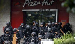 The attackers targeted a busy shopping area in downtown Jakarta