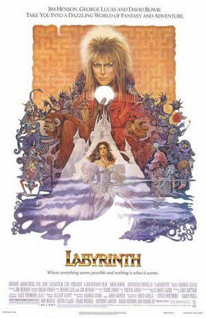 This poster of the movie Labyrinth is full of MK trigger images.