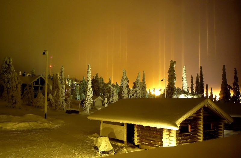light pillars