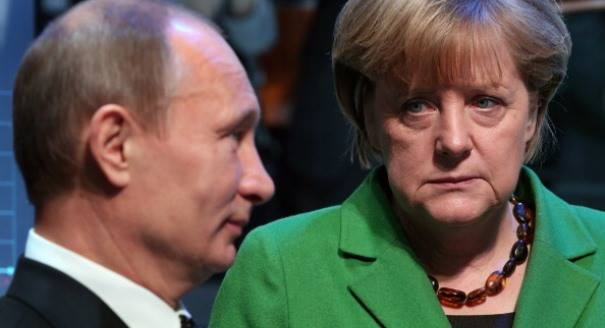 Different paths: Putin has decided to go rogue from the globalist agenda Merkel has repeatedly tried to get him to follow