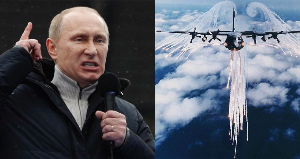 Putin says the U.S. are spraying poisonous chemtrails over Syrian in a bid to 'mind control' the Syrian population