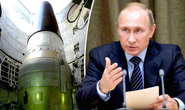 Putin orders nuclear troops to be on high alert as US chemical weapons plot uncovered