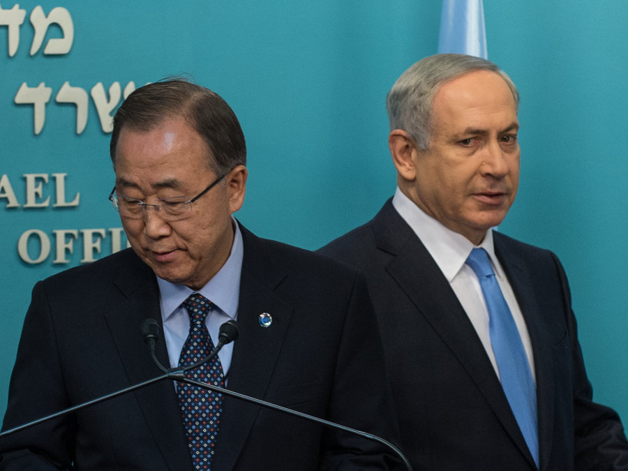 "The UN Chief has criticised Israeli treatment of Palestinians, calling Israel a bunch of ""hooligans"""
