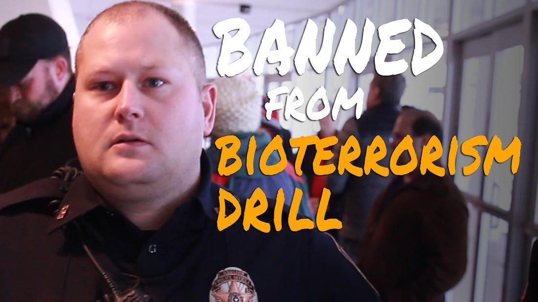 Activists infiltrate and film a government bioterrorism drill