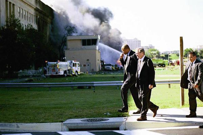 Donald Rumsfeld admits that a missile hit the pentagon during the 9/11 attacks