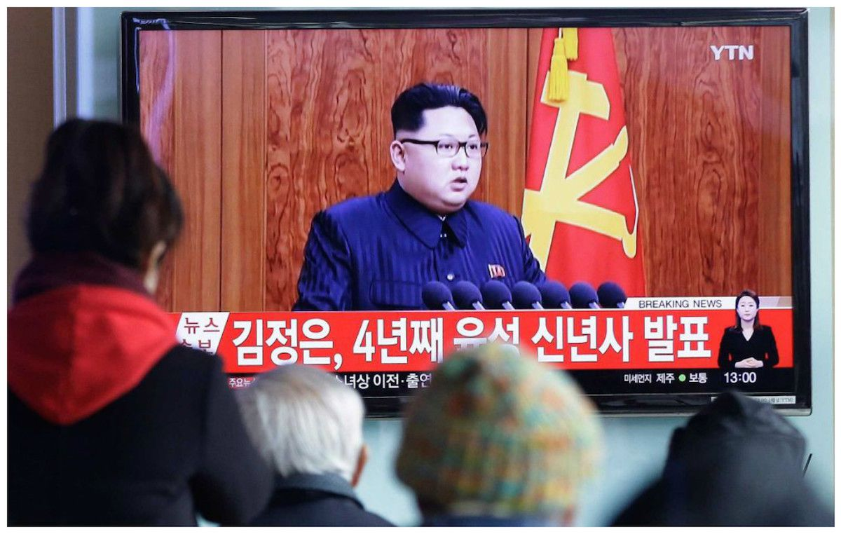 Kim Jong-un announces that North Korea are ready for war, in his New Year speech