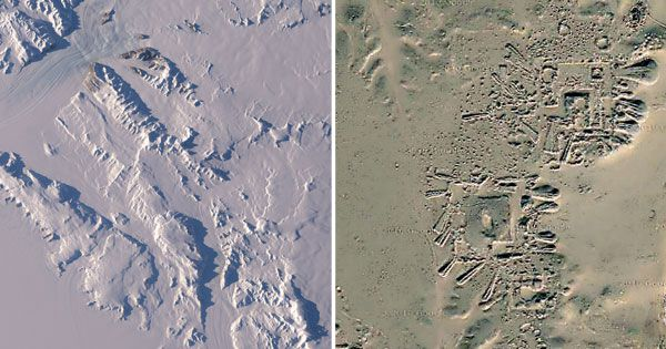 NASA images reveal ancient civilisation beneath Antarctica ice sheets