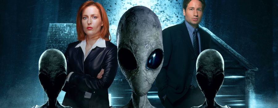 Scully and mulder searching for the truth