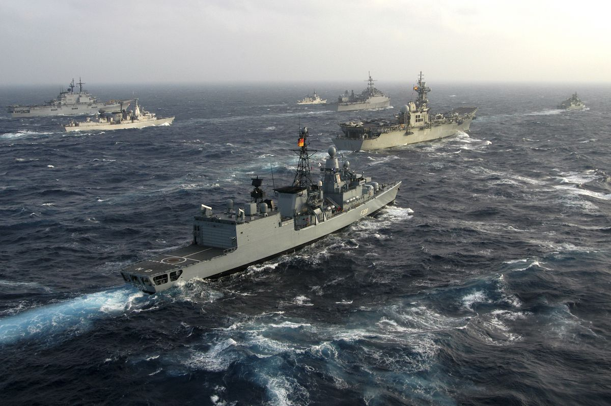 Ships evacuate Atlantic ocean for first time in history