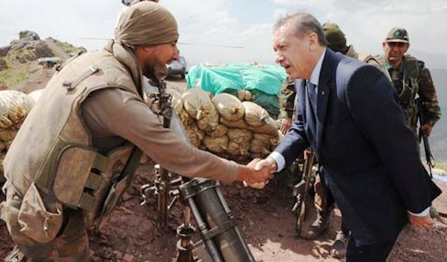Turkish leader Erdogan using ISIS militants to kill Kurds in Syria