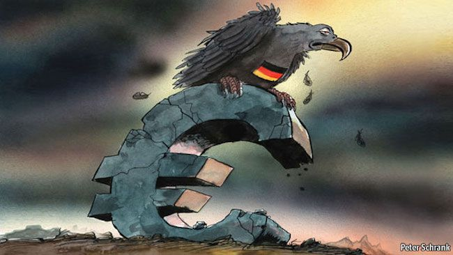 The Euro is collapsing due to Germany's policies, says expert