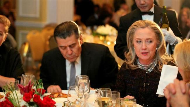 Hillary Clinton has written a letter to Israeli-American billionaire Haim Saban (left), pledging to speak out publicly against the boycott, divestment and sanctions (BDS) campaign aimed at Israel.