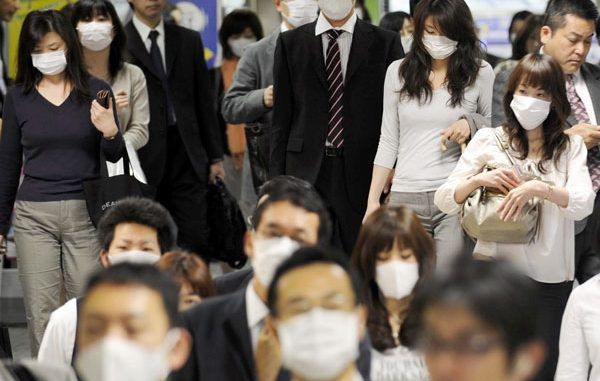 Over a million people in Japan have been struck down with flu within one week