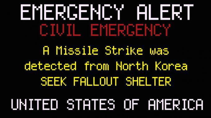 Nuclear attack warning messages delivered to broadcasters