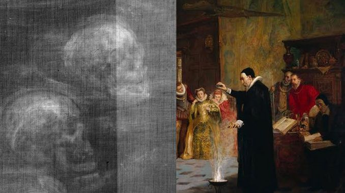 Secret skulls found hidden within Victorian painting reveal England's occult history