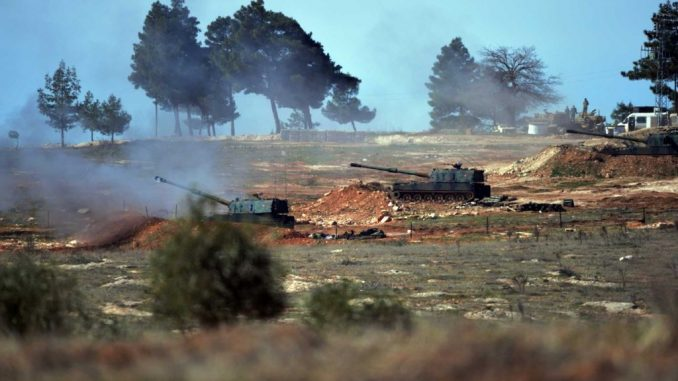 The Turkish military open fire on Russian troops in Syria