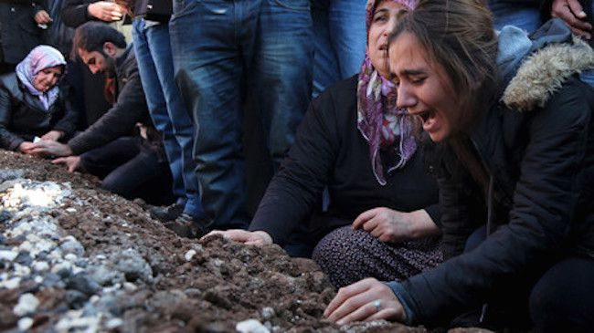 Horrific: Over 150 Kurds have reportedly been 'burned alive' by the Turkish military in a huge massacre