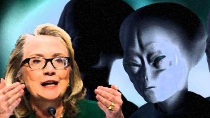 Stranded extraterrestrial says it needs help from Hillary Clinton