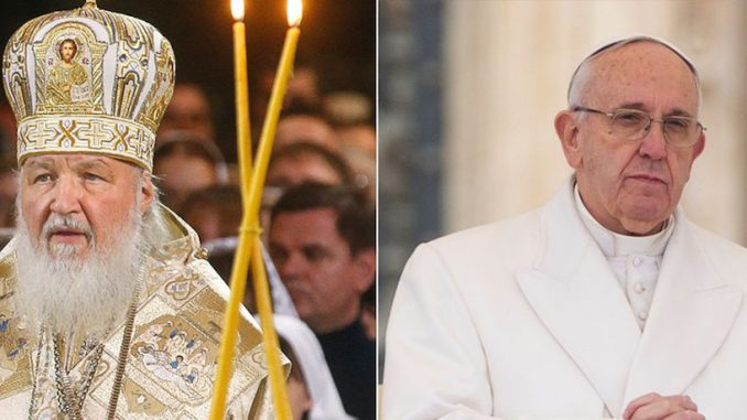 Pope Francis warns Russian patriarch that the end of the world is near