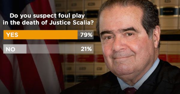 Poll: Do you think US Supreme Justice Scalia was murdered?