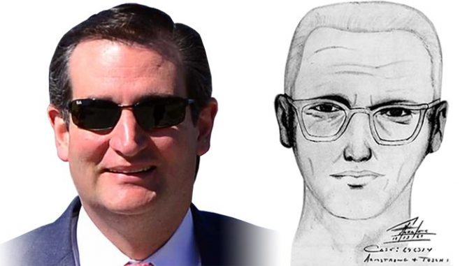 40% of the public think Ted Cruz is the Zodiac Killer