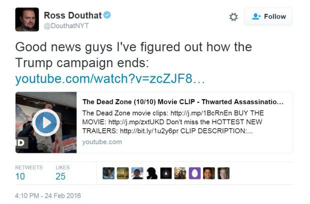 Trump assassination tweet by NY Times reporter