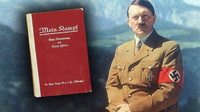 Adolph Hitler and his book Mein Kampf is now a bestseller in Hollywood