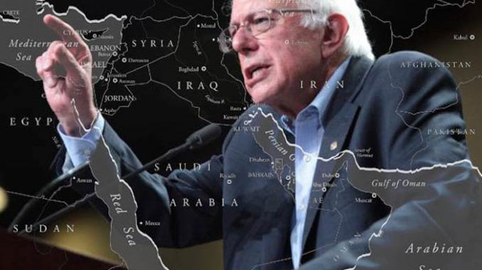 Bernie Sanders says he will completely reverse U.S. Middle East policy if elected President