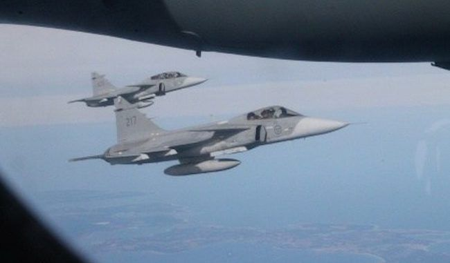 NATO jets follow Russian Defence Minister's plane over the Baltic sea in deliberate provocation