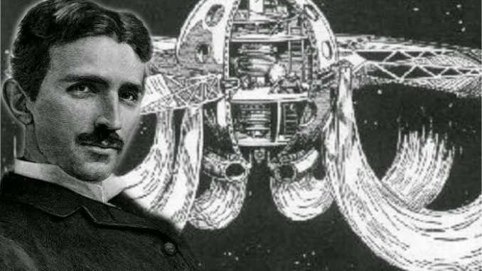 Nicola Tesla invented a UFO following contact with extraterrestrials