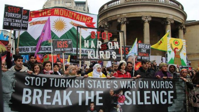 Thousands Protest In London Against Turkish War On Kurds