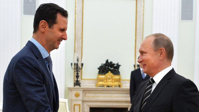 Vladimir Putin congratulates Syrian President Assad on defeating ISIS