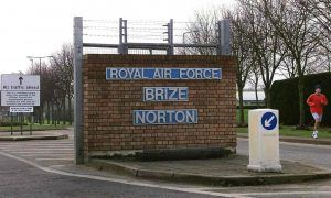 RAF Brize Norton base in Oxfordshire