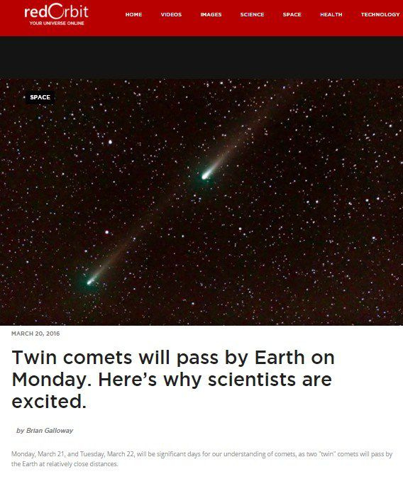 Twin Comets Whizzed By Earth, Fulfilling The Last Hopi Prophecy Before The Arrival Of Nibiru
