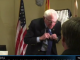 Bernie Sanders leaves news interview