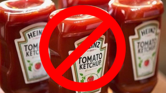 Heinz Ketchup now no longer legally considered ketchup in Israel