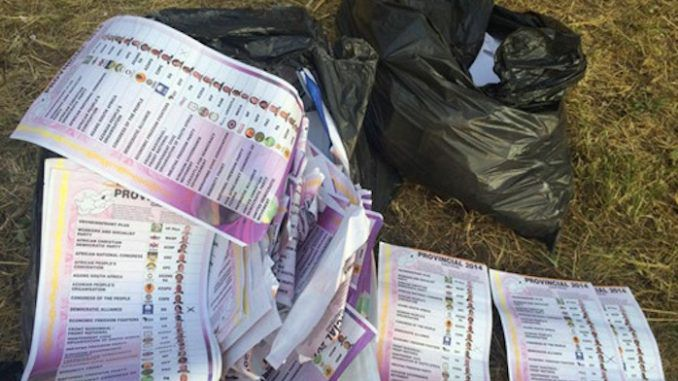 Bag stuffed with voter ballots found dumped in California