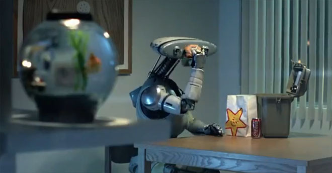 Carl's Jr CEO announces plans to replace entire work force with robots