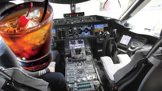 Airline co-pilot arrested for drinking