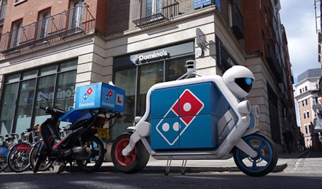 Robot pizza delivery guys unveiled by Domino's