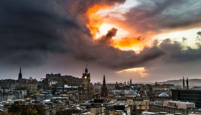 Fire-breathing dragon spotted in the skies over Scotland