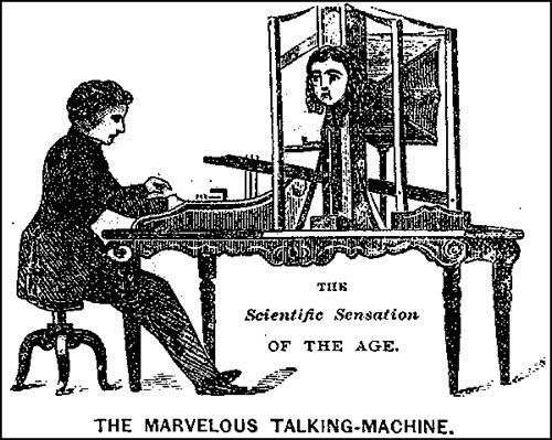 "An advertisement for Faber's ""Marvelous Talking Machine,"" later renamed ""the Euphonia."" (Photo: Public Domain)"