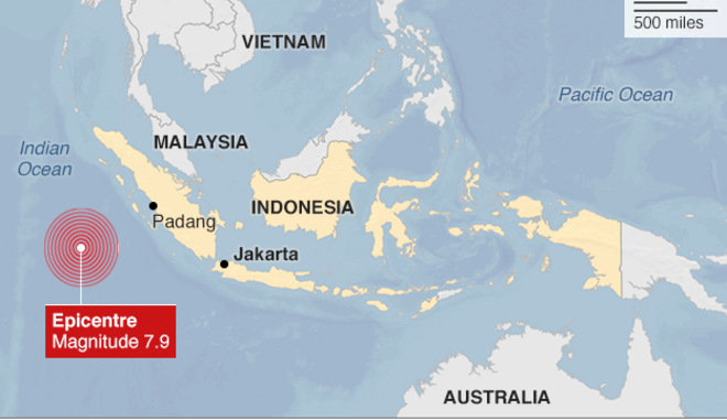Indonesia: Powerful 7.9 Earthquake Strikes Off Sumatra