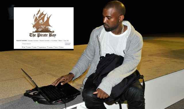 Kanye West caught using The Pirate Bay torrent website whilst he actively sues them